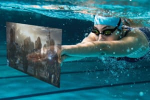 水泳ゴーグルが最先端ARスマートデバイスに!米VuzixがSmart Swimを発売