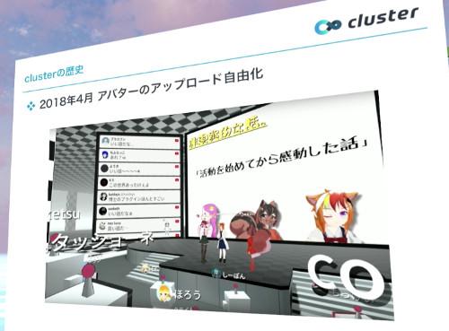 Clusterにアバター機能実装