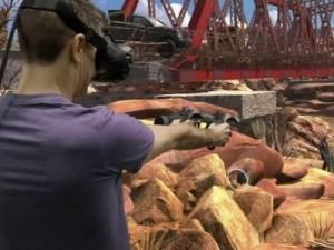 VRゲームに入り込む