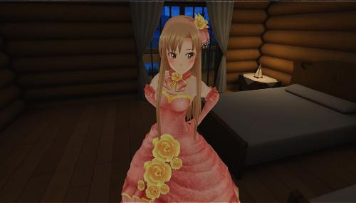 SAO VR アスナのドレス姿