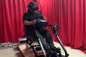 ハシラスが開発中の新型VRドライビングシミュレーターのイメージ