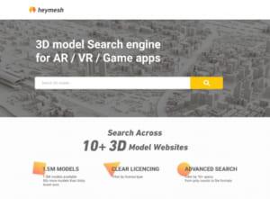 3Dモデル検索WEBサービス「heymesh」