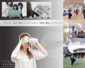 ミライアルバム|VRを使用した卒園アルバム