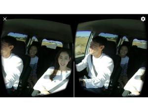 『ダクション 360』撮影した映像を『d'Action VR』でVR映像にした画面