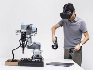 VRヘッドセットを使ってロボットを教育する