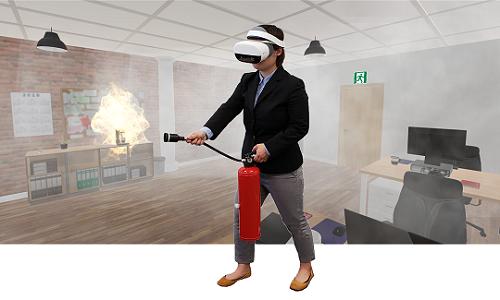 スタンドアロン型VRゴーグルで消化器訓練!「VR消火訓練シミュレータNeo」登場