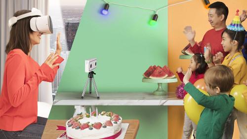 VRカメラと一体型VRゴーグル