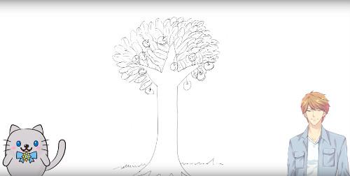 ココロンちゃんねるで木を描く