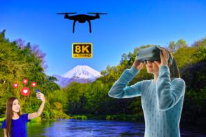 8K VR×ドローンで日本三大清流「柿田川」をPR!VR体験会を開催