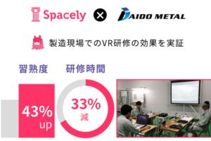 VR研修で習熟度43%アップや研修33%効率化!スペースリー×大同メタル工業が実証