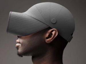帽子のようなVRヘッドセット