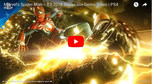 E3 PS4ゲームスパイダーマン