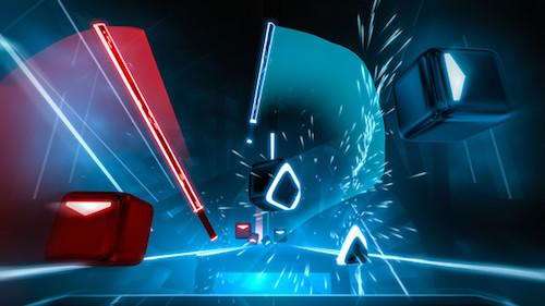 PSVR音ゲーム「ビートセイバー」