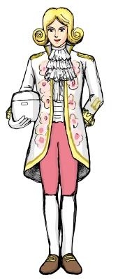 白花伝伯爵の全身画像