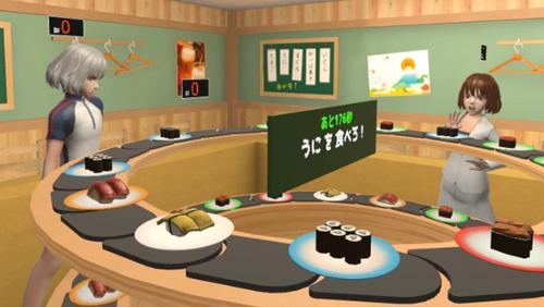 VREXゲーム寿司コースター