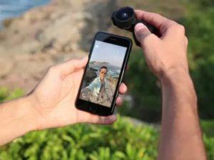 iPhoneにFusion Lensを装着する