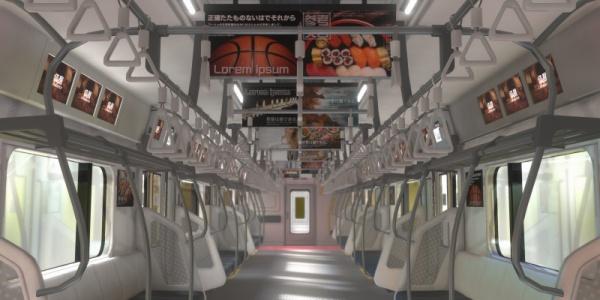 バーチャルアドバリューの第一弾は電車内広告評価システム