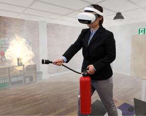 火災現場を実際に動いて消火!「VR消火訓練シミュレータNeo」登場!